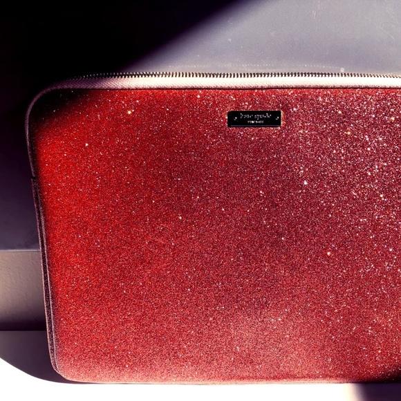 new style 5f5f3 b5f55 Kate Spade pink glitter laptop case